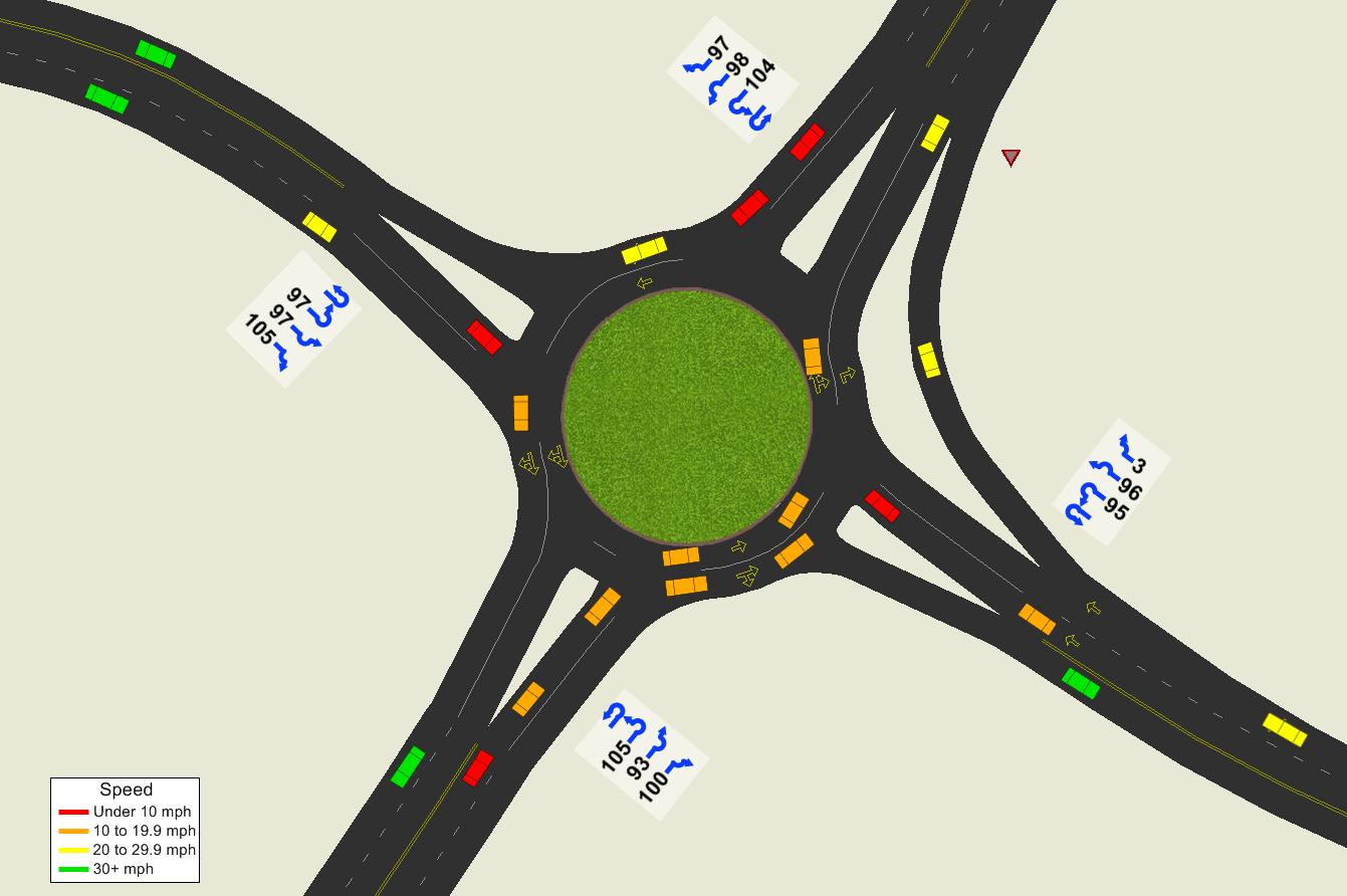 TransModeler - roundabout